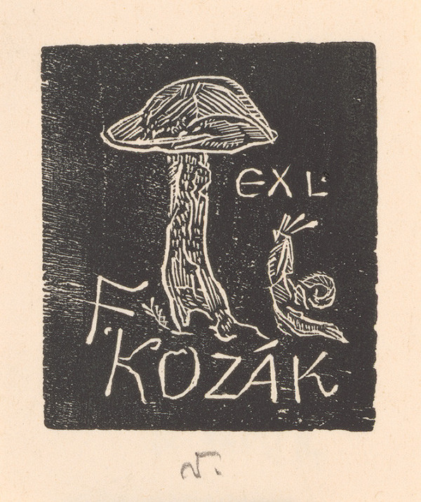 Jaroslav Vodrážka – Ex libris F. Kozák