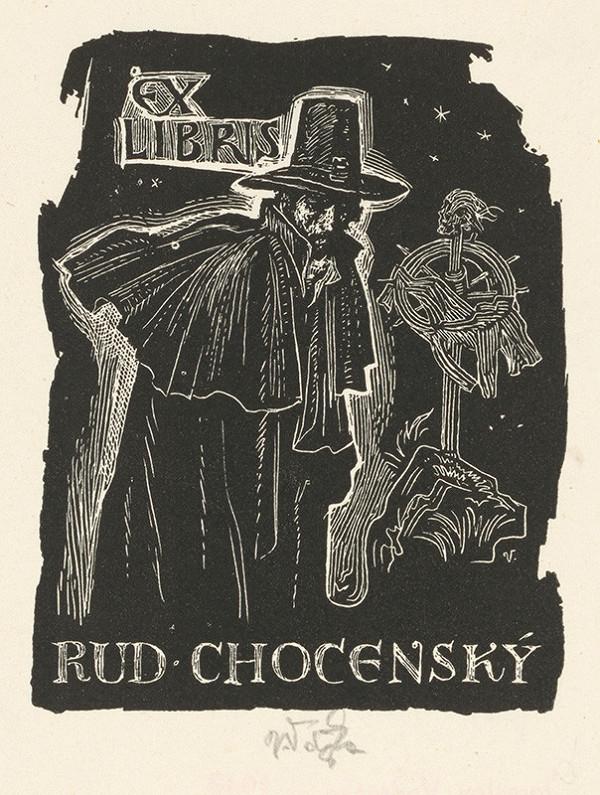 Jaroslav Vodrážka – Ex libris Rud. Chocenský