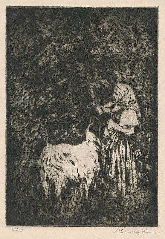 Viktor Hermély - Kŕmenie kozy