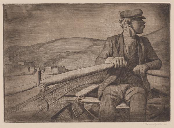 Viktor Hermély – Starý rybár