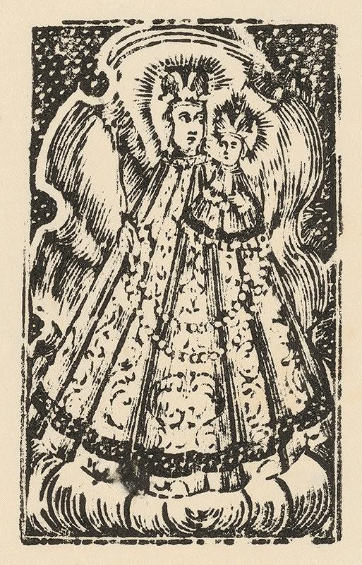 Slovenský grafik zo začiatku 19. storočia - Panna Mária marianská