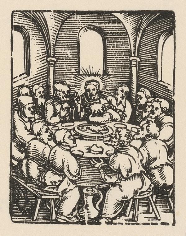 Nemecký grafik z 1. polovice 16. storočia - Posledná večera