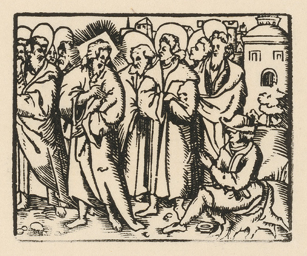 Nemecký grafik z prelomu 16. - 17. storočia – Uzdravenie slepého