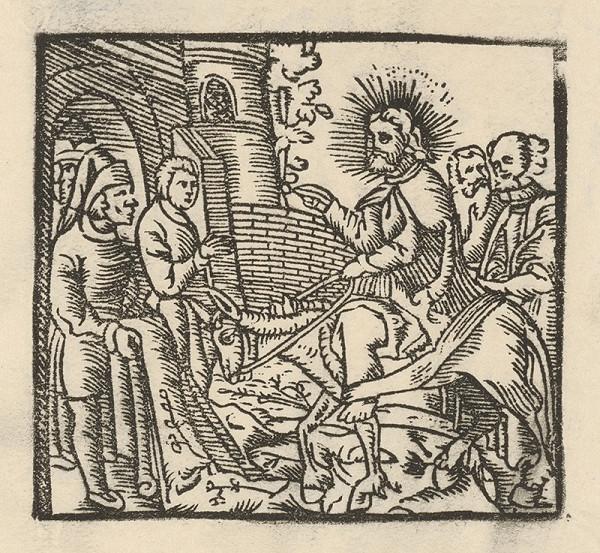Nemecký grafik z 1. polovice 16. storočia – Vjazd Krista do Jeruzaléma