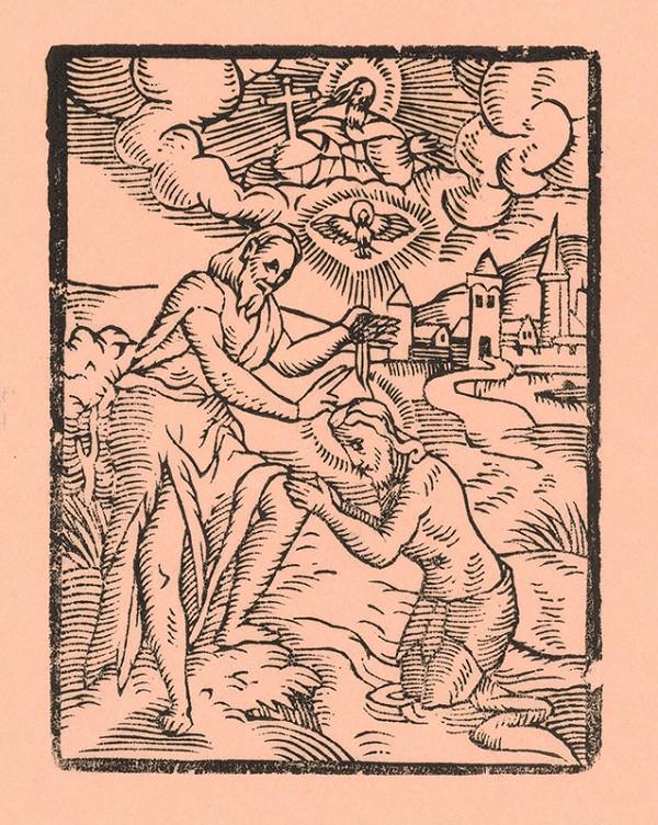 Moravský grafik zo začiatku 17. storočia - Kristov krst