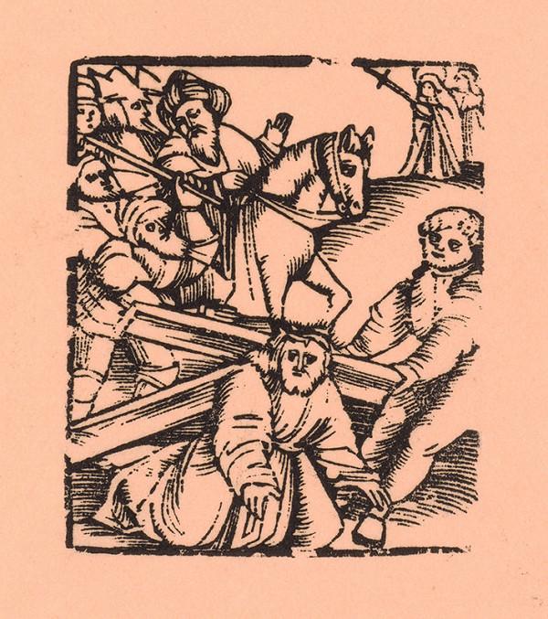 Moravský grafik zo začiatku 17. storočia - Nesenie kríža
