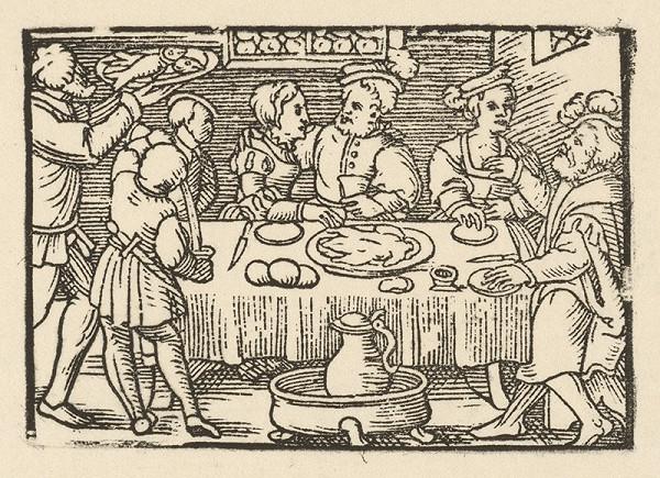 Nemecký grafik z 2. polovice 16. storočia – Záverečná hostina