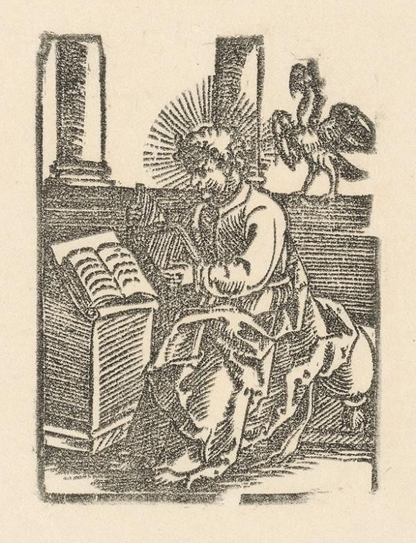 Nemecký grafik z 1. polovice 16. storočia - Evanjelista Ján