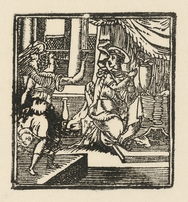 Moravský grafik zo začiatku 17. storočia - Zvestovanie