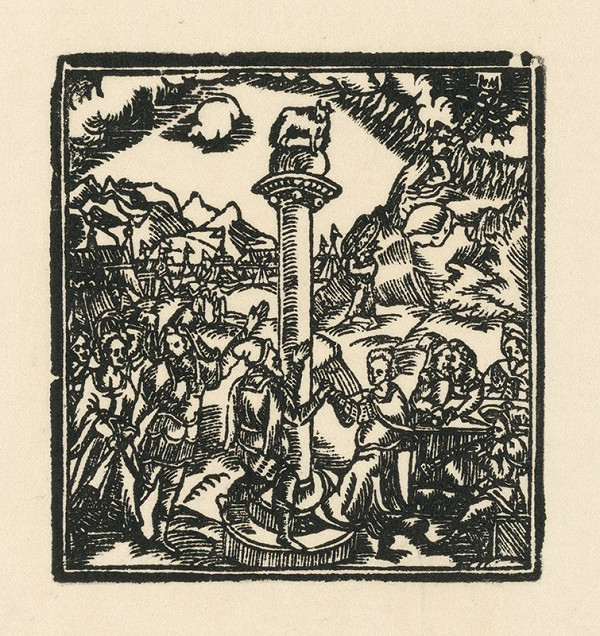 Moravský grafik zo začiatku 17. storočia – Zlaté dieťa