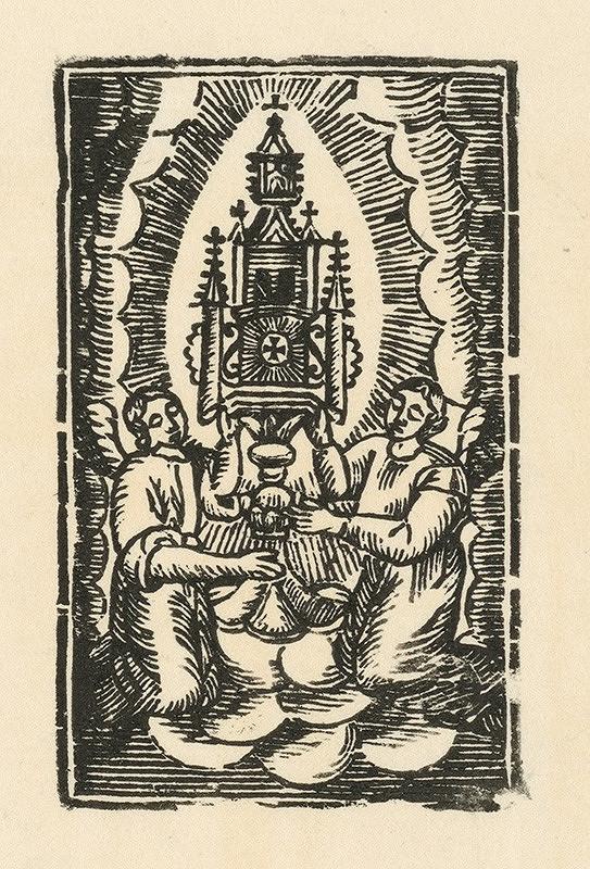 Slovenský grafik zo začiatku 19. storočia - Adorácia oltárnej sviatosti