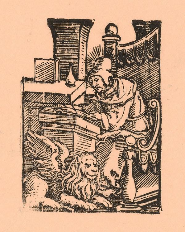 Nemecký grafik z 1. polovice 16. storočia – Evanjelista Marek