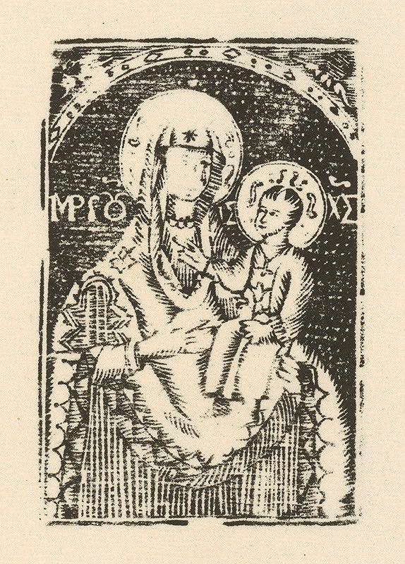 Slovenský grafik zo začiatku 19. storočia - Panna Mária póčská
