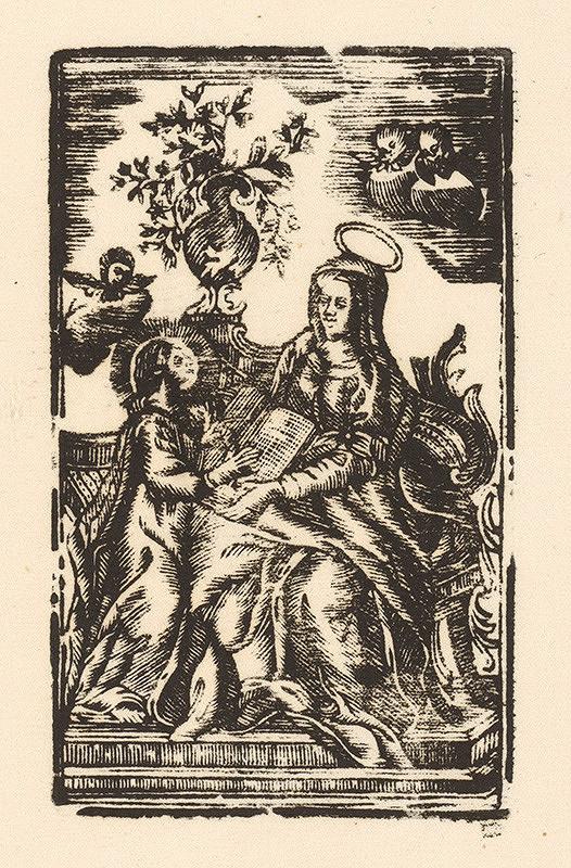 Slovenský grafik z 2. polovice 18. storočia - Sv. Anna vyučuje P. Máriu