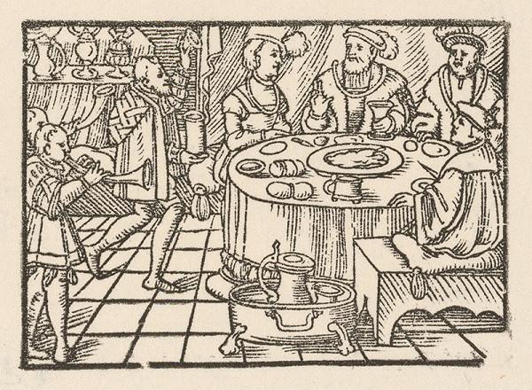 Nemecký grafik z 2. polovice 16. storočia – Hostina