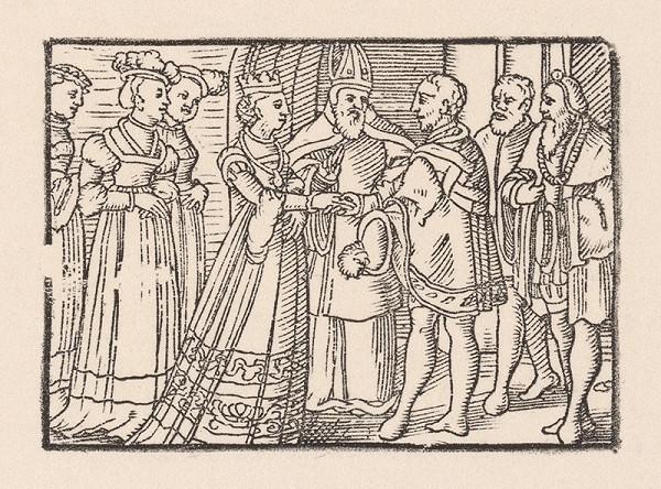 Nemecký grafik z 2. polovice 16. storočia - Svadba kniežaťa Valtera s Grizeldou