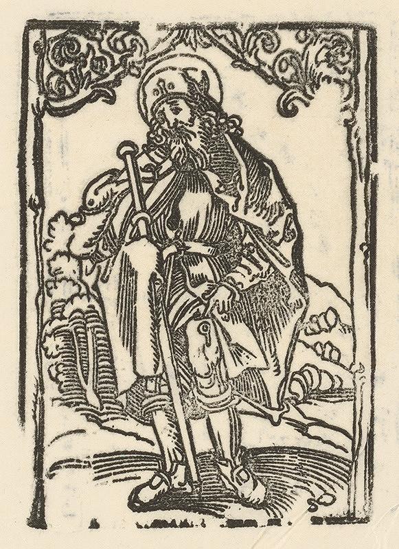 Nemecký grafik z 1. polovice 16. storočia - Sv. Rochus