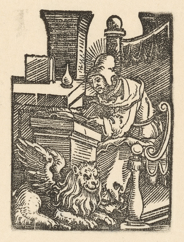 Nemecký grafik z 1. polovice 16. storočia - Evanjelista Marek
