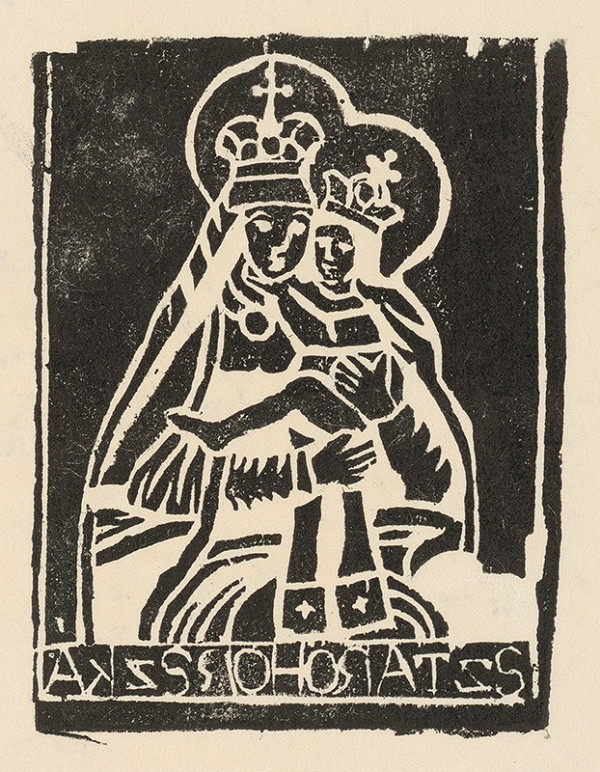 Slovenský grafik z 2. polovice 19. storočia - Starohorská Panna Mária