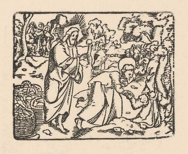 Nemecký grafik zo začiatku 17. storočia – Uzdravenie nemého