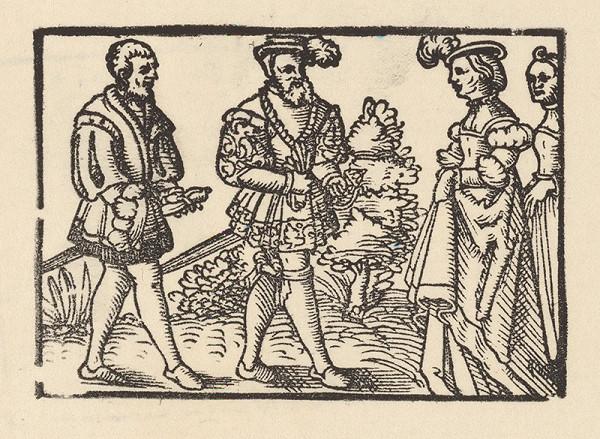 Nemecký grafik z 2. polovice 16. storočia – Knieža sa zhovára s Grizeldou