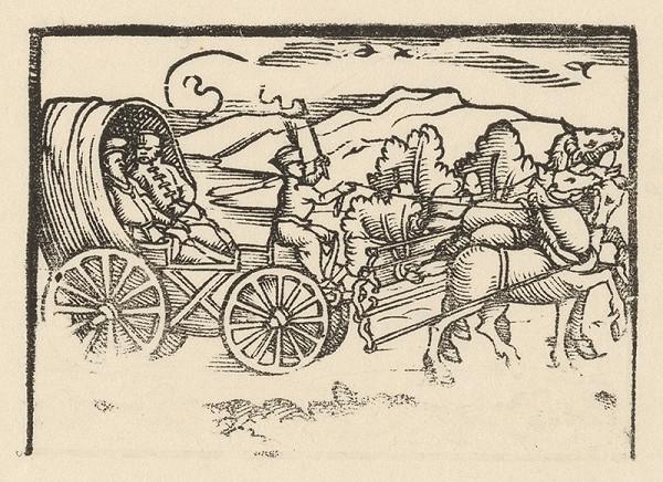 Nemecký grafik zo začiatku 17. storočia – Cesta kočom