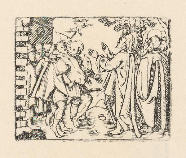 Nemecký grafik zo začiatku 17. storočia – Uzdravenie posadnutého diablom