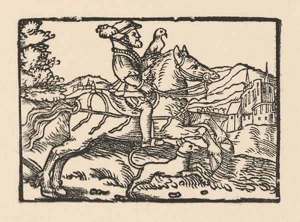Nemecký grafik z 2. polovice 16. storočia – Knieža ide na lov