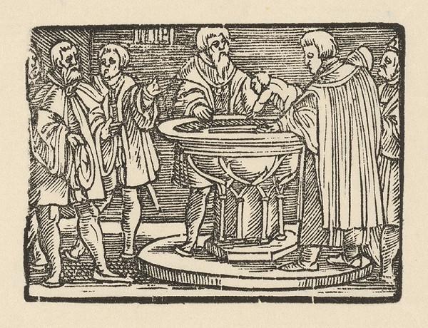 Nemecký grafik z 1. polovice 16. storočia – Krst