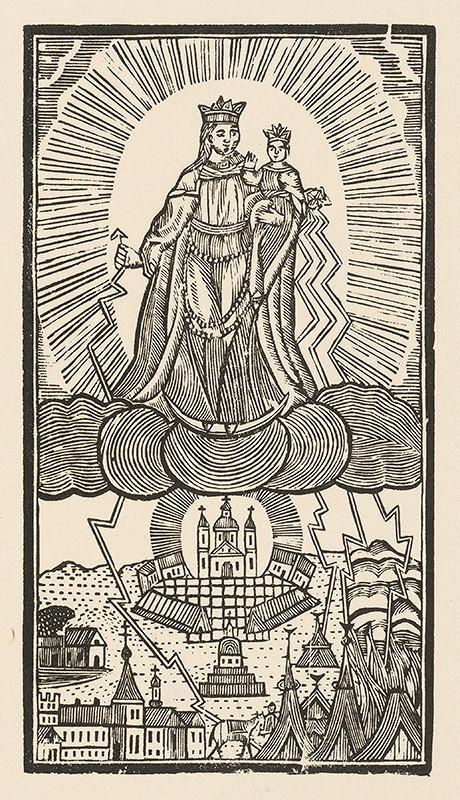 Moravský grafik zo začiatku 19. storočia - Panna Mária hostýnska