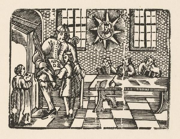 Moravský grafik zo začiatku 18. storočia – Gramatika s portrétom Jána Nepomuckého