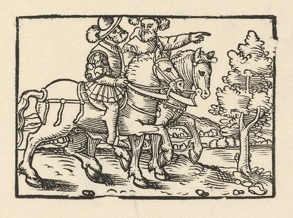 Nemecký grafik z 2. polovice 16. storočia – Dvaja jazdci