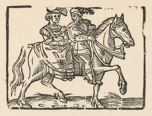 Nemecký grafik z 1. polovice 16. storočia – Šľachtický pár na love