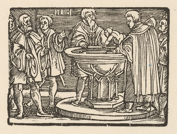 Nemecký grafik z polovice 16. storočia – Krst