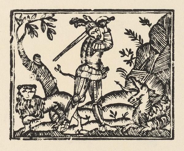 Slovenský grafik zo začiatku 19. storočia – Rytier s levom a drakom