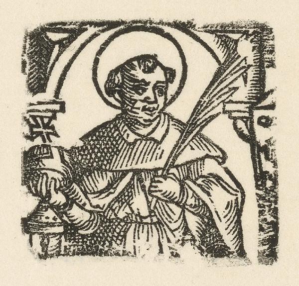 Moravský grafik z polovice 17. storočia - Sv. Anton