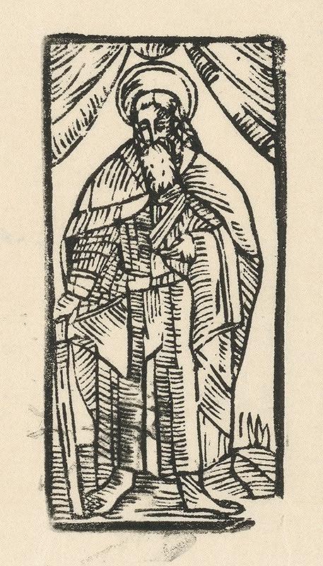 Moravský grafik zo začiatku 17. storočia – Apoštol Júda Tadeáš