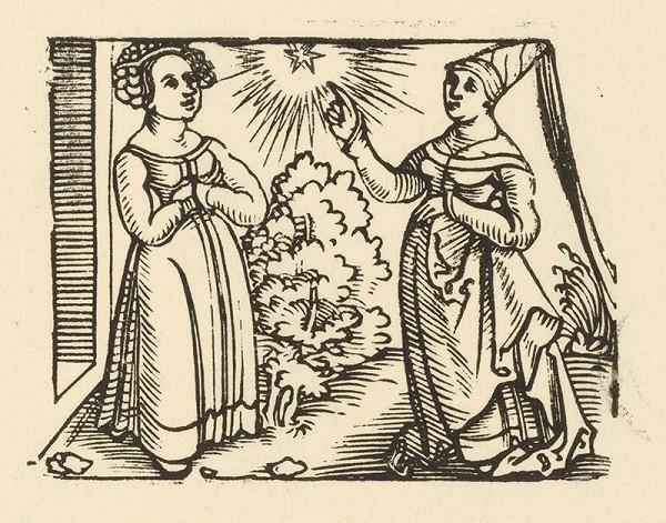 Nemecký grafik z 1. polovice 16. storočia - Rozhovor dvoch paní