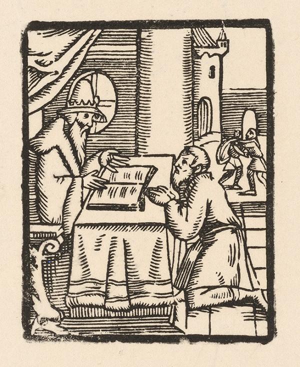 Moravský grafik zo začiatku 17. storočia - Učenec a prosebník