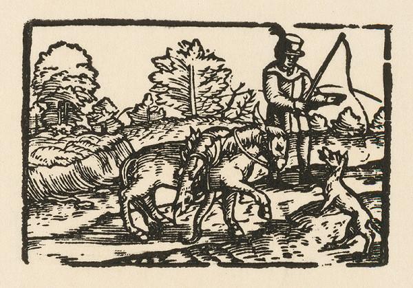 Nemecký grafik z 2. polovice 16. storočia – Rozhovor somára s líškou