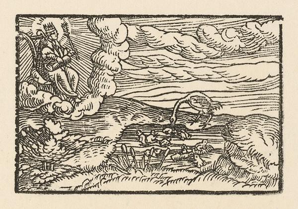 Nemecký grafik z 2. polovice 16. storočia – Prvá báseň o žabách