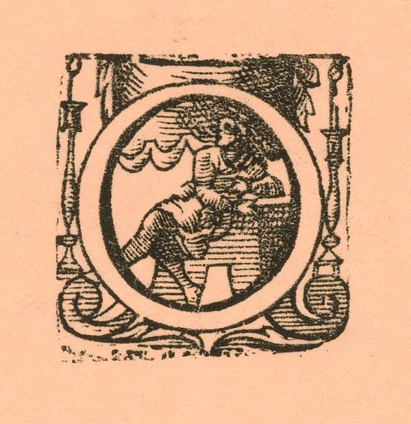 Moravský grafik zo začiatku 17. storočia – Iniciála O