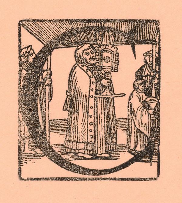 Nemecký grafik z polovice 16. storočia - Iniciála C