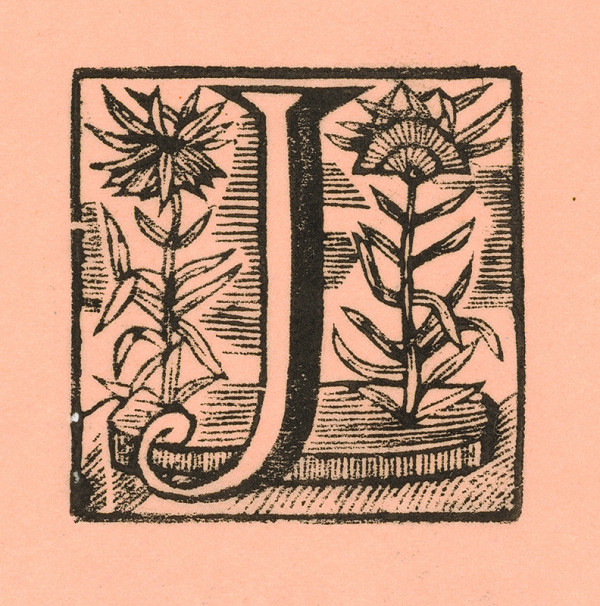 Moravský grafik zo začiatku 18. storočia - Iniciála J
