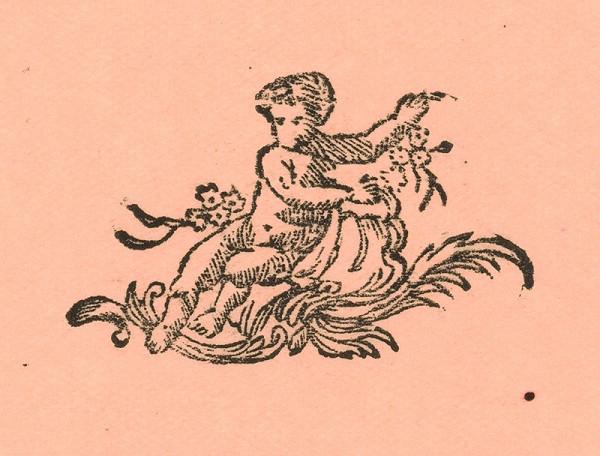 Moravský grafik zo začiatku 18. storočia - Koncovka s puttom