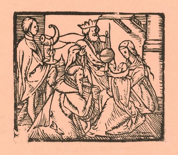 Moravský grafik zo začiatku 17. storočia – Klaňanie sa Troch kráľov