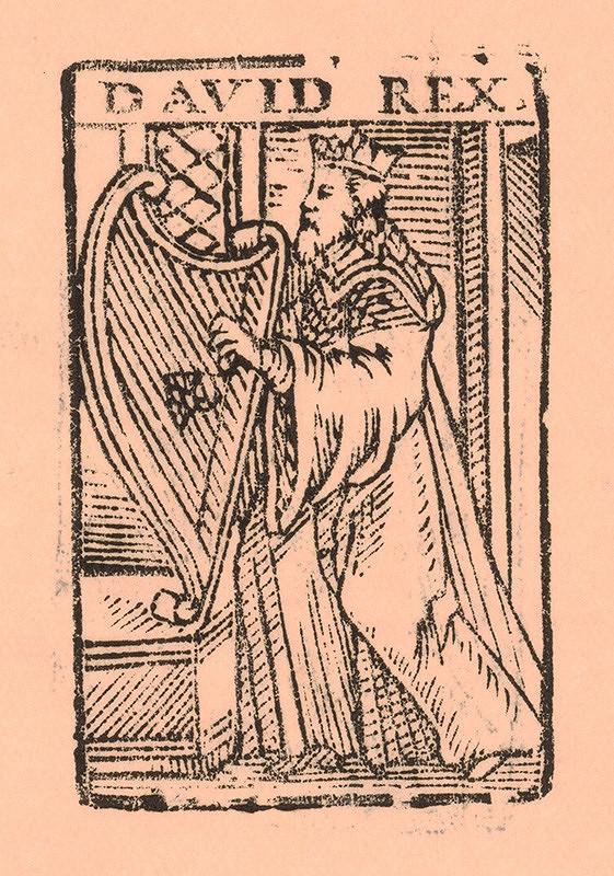 Nemecký grafik zo začiatku 17. storočia – Kráľ Dávid