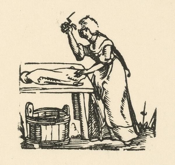 Nemecký grafik z 1. polovice 16. storočia – Práčka