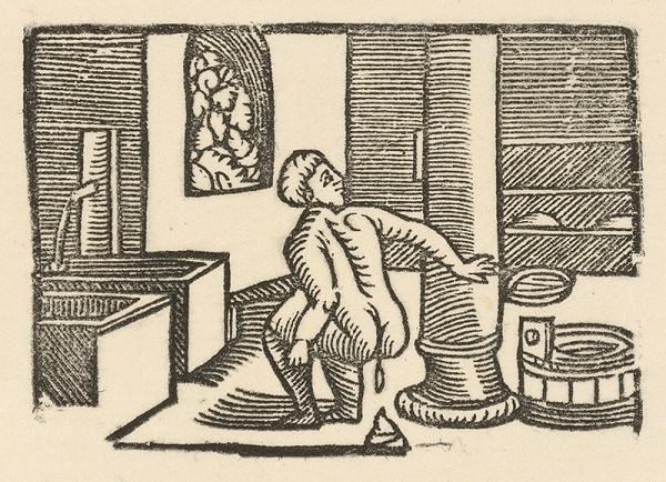 Nemecký grafik z 1. polovice 16. storočia – Enšpígl v kúpeli