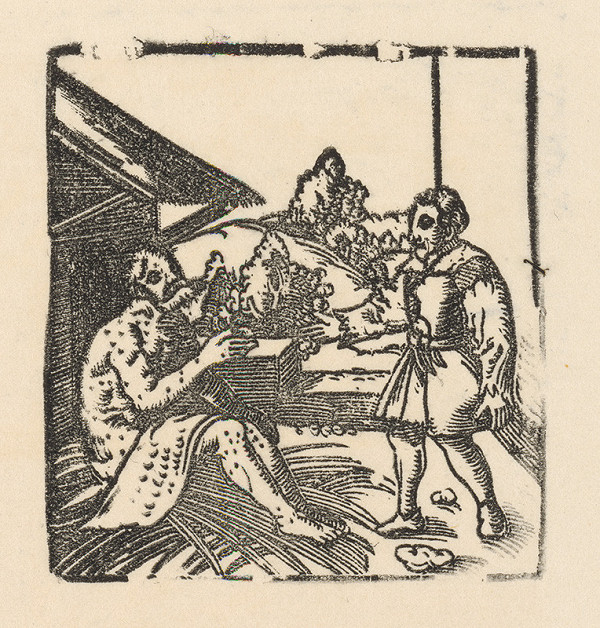 Nemecký grafik z 1. polovice 16. storočia - Jób